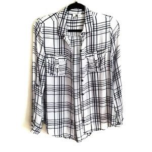 Francesca's Collections Plaid Button Down